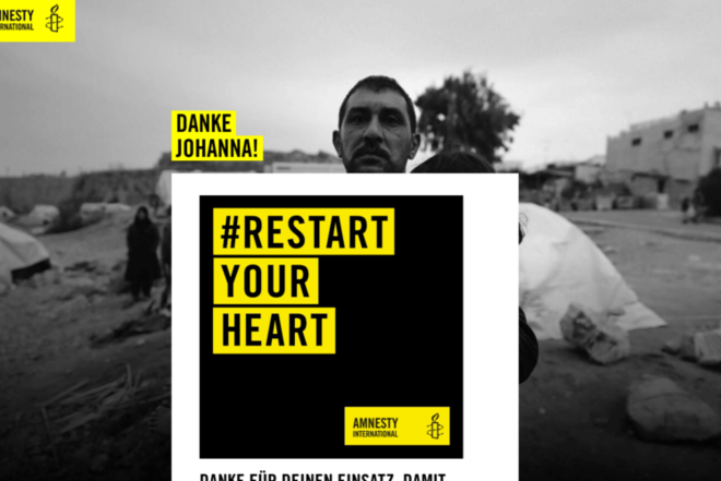 Amnesty International Landing Page